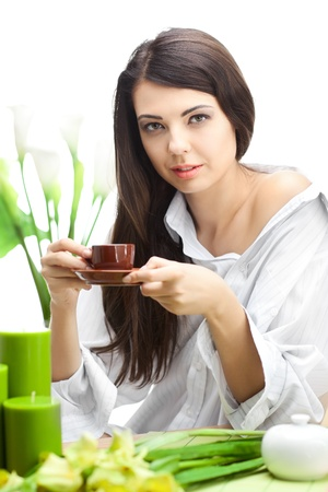 Woman With Cup Of Coffe photo