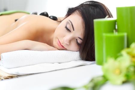 alternative medicine: beauty woman in spa Stock Photo