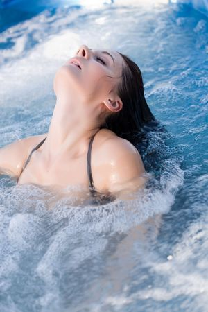 Young sexy girl in swimming pool Stock Photo - 3546571