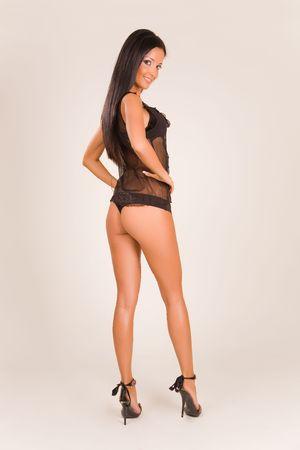 Beautiful girl in fashion lingerie, studio isolated Stock Photo - 3826957