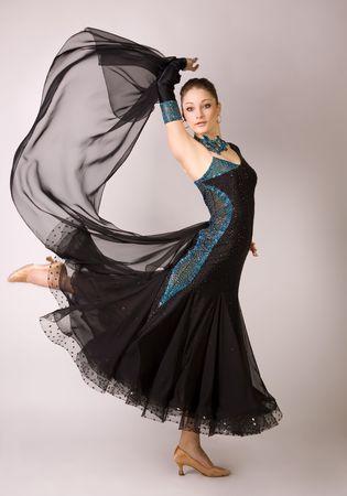 Professioneel danser in beweging, studio shot Stockfoto