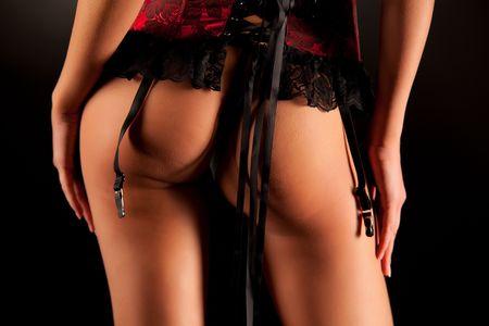 Sexy necked buttocks, close up shot