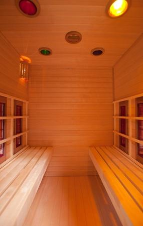Wood sauna, close up shot Stock Photo - 8867747