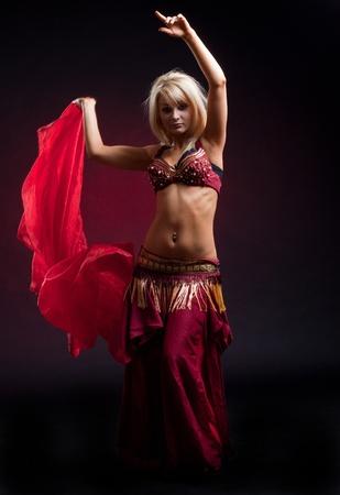 Girl in arabic costume, indoor shot photo