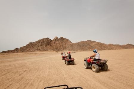 Quad bike safari in Egypte, outdoor horizontale shoot Stockfoto