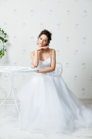 Bride in very beautiful wedding dress  photo