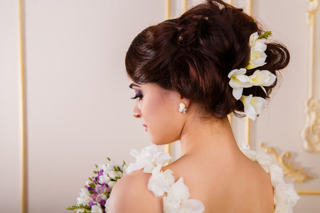 pureness: Hairstyle with accessories from the back