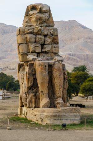 Colossi of Memnon in Luxor in Egypt Stock Photo