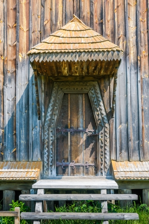 Detail of the door of a typical ukrainian antique orthodox church, in Pirogovo near Kiev Stock Photo - 18190517