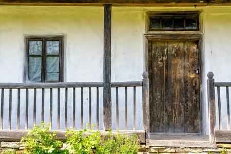 pirogovo: Detail of a typical ukrainian antique house, in Pirogovo near Kiev