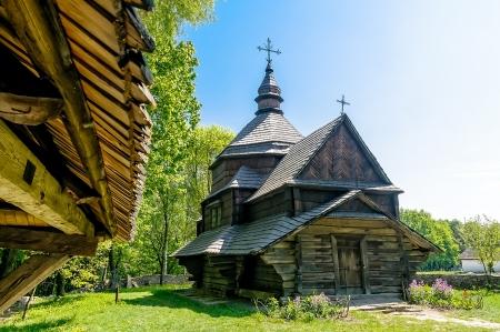 A typical ukrainian antique orthodox church in Pirogovo near Kiev Stock Photo - 18190412