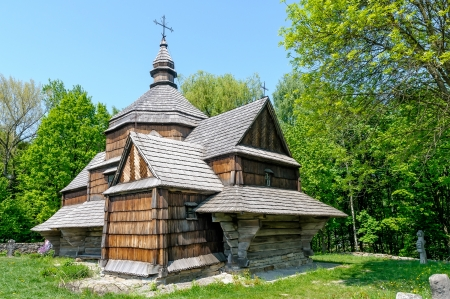 A typical ukrainian antique orthodox church in Pirogovo near Kiev Stock Photo - 18190573