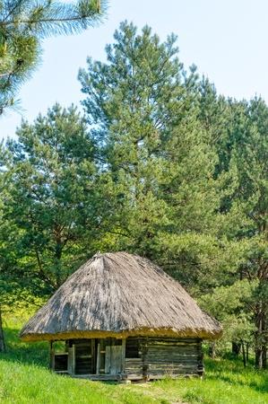 pirogovo: A typical ukrainian antique hut, in Pirogovo near Kiev