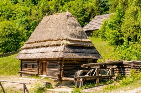 water mill: A typical ukrainian antique water mill, in Pirogovo near Kiev