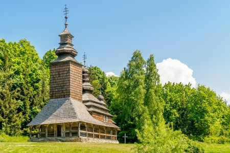 A typical ukrainian antique orthodox church in Pirogovo near Kiev Stock Photo - 18190370