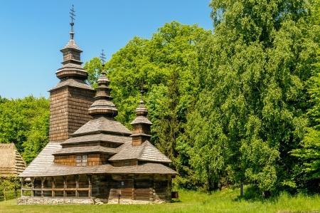 A typical ukrainian antique orthodox church in Pirogovo near Kiev Stock Photo - 18190660