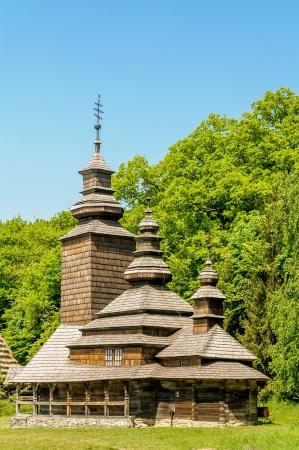A typical ukrainian antique orthodox church in Pirogovo near Kiev Stock Photo - 18190546