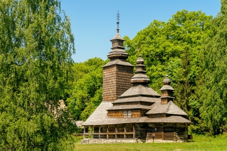 A typical ukrainian antique orthodox church in Pirogovo near Kiev Stock Photo - 18190742
