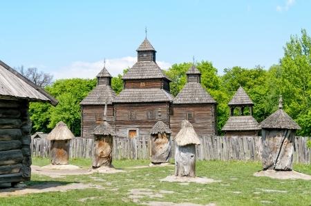 A typical ukrainian antique orthodox church in Pirogovo near Kiev Stock Photo - 18190441