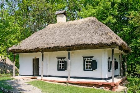 pirogovo: A typical ukrainian antique house, in Pirogovo near Kiev