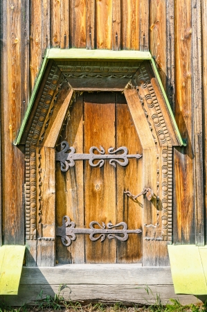 Detail of the door of a typical ukrainian antique orthodox church, in Pirogovo near Kiev Stock Photo - 18190622