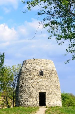 pirogovo: A Stone tower in Pirogovo, near Kiev