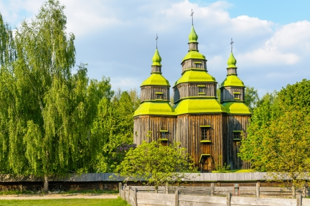 A typical ukrainian antique orthodox church in Pirogovo near Kiev Stock Photo - 18190524