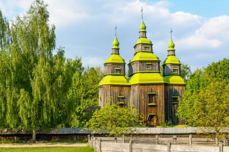 A typical ukrainian antique orthodox church in Pirogovo near Kiev Stock Photo - 18190524