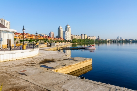 Modern Buildings close to the Dnieper River in Kiev Stock Photo - 18647389