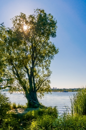 A view of the Dnieper River in Kiev, with the city in the background Stock Photo - 18647426