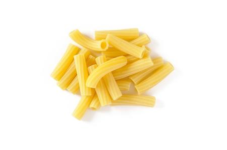 A group of italian maccaroni on white background Stock Photo
