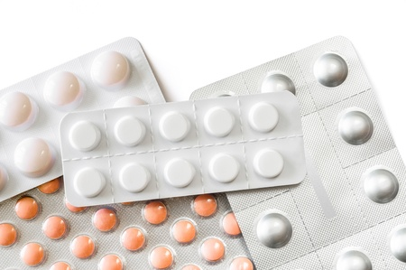 Pills blisters of pharmacy to cure pain and illness