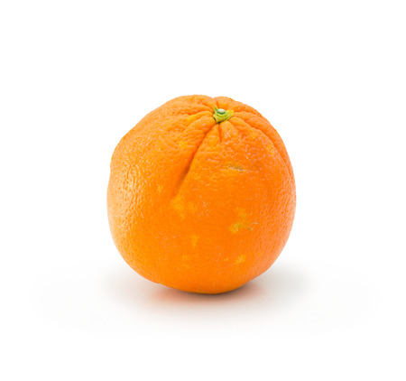 Natural juicy orange isolated on white background Stock Photo
