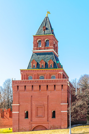A tower of the Kremlin fortress in Moscow