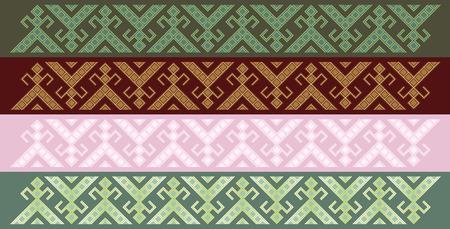 friezes: Four simple seamless traditional slavic friezes