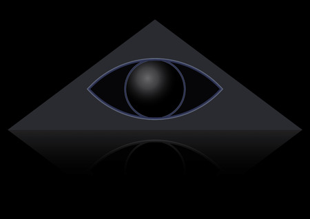 The masonic symbol of the eye in the triangle. Gods Eye Vector