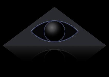 의식: The masonic symbol of the eye in the triangle. Gods Eye