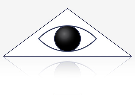 The masonic symbol of the eye in the triangle. Gods Eye