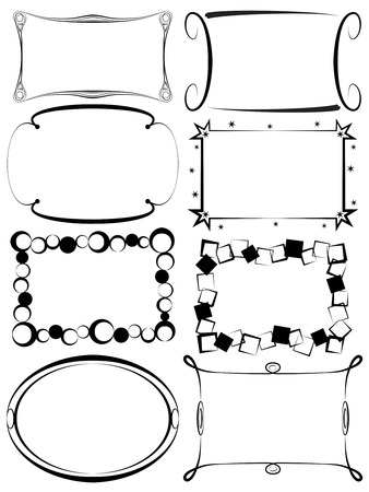 A set of antique and modern decorative vectorial frames for various uses 일러스트