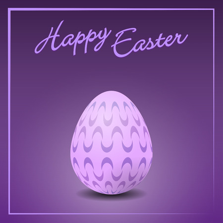 vectorial: Vectorial illustration of  colorful easter egg card