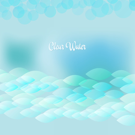 wawe: Soft waves and fishes create light bubbles in the clear water