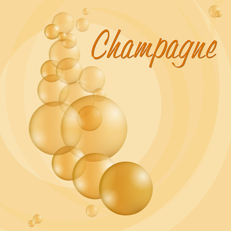 sparkling: Sparkling bubbles of fresh French Champagne