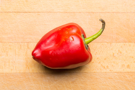 bell pepper: Natural red bell pepper from the garden Stock Photo