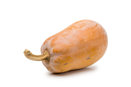 butternut squash: Pumpkin, hybrid Cucurbita Moschata  also known as Butternut Squash, isolated on white background