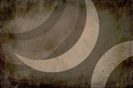 crescent moon: Grunge texture with crescent moon to use as background. Colors gray, brown and beige