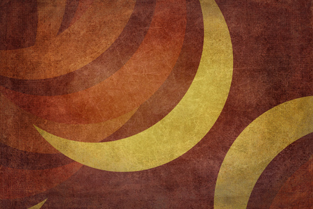 crescent moon: Grunge texture with crescent moon to use as background. Colors yellow, red and violet Stock Photo