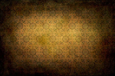 renaissance: Old classical renaissance texture. Colors green, yellow and brown Stock Photo