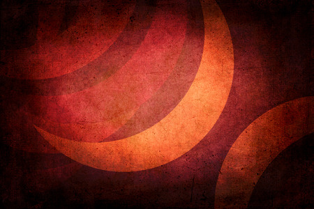 crescent: Dark grunge texture with crescent moon to use as background. Colors orange and red