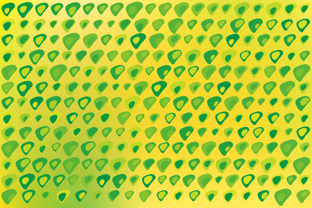 distorted: Texture background made of green and yellow dots, or distorted triangles with round corners, on yellow