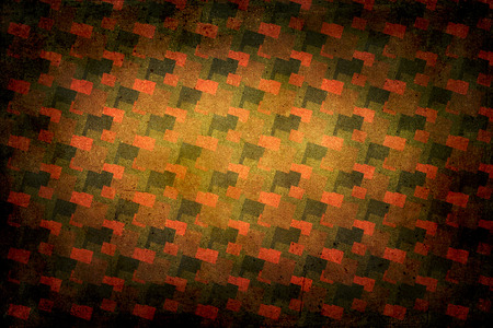 the seventies: Seventies decoration background. Colors red, orange, brown and green.